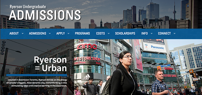 Ryerson admissions